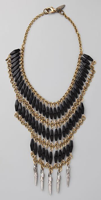 Fallon Jewelry Velouria Long Bib Necklace