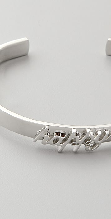 Fallon Jewelry Small Happy ID Cuff