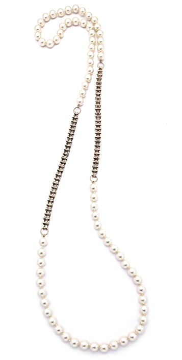 Fallon Jewelry Classique Long Pearl Necklace