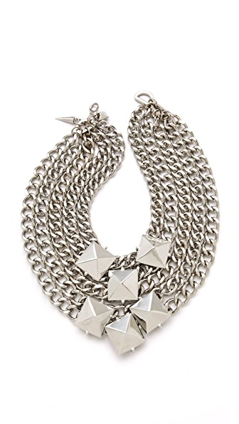 Fallon Jewelry Extra Large Stud Cluster Necklace