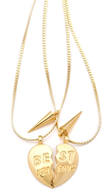 Fallon Jewelry BFF Charm Necklace Set