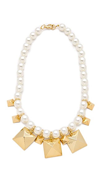 Fallon Jewelry Stud & Pearl Station Necklace