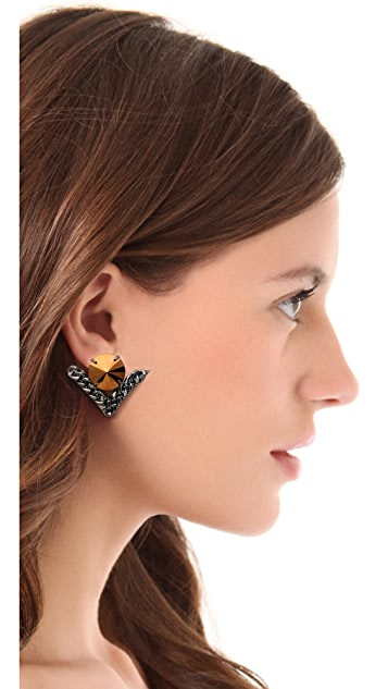 Fallon Jewelry Jagged Track Post Earrings