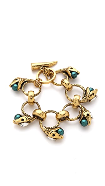Fallon Jewelry Rattlesnake Linked Bracelet