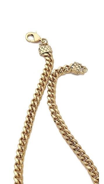 Fallon Jewelry Snake V Pendant Necklace