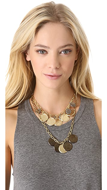 Fallon Jewelry Coin Bib Necklace