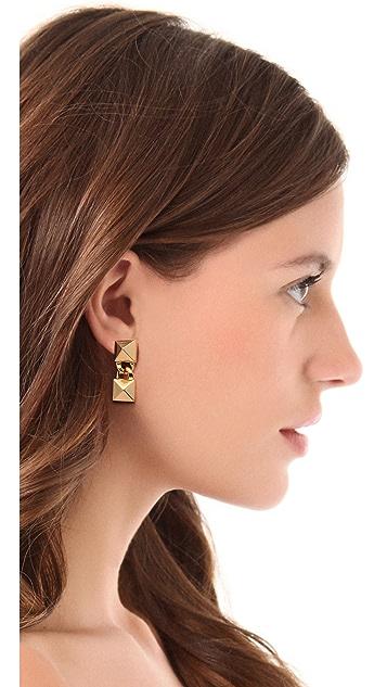 Fallon Jewelry Signature Pyramid Earrings