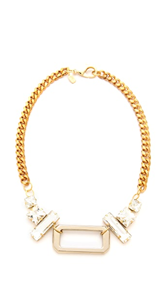 Fallon Jewelry Crystal Hardware Pendant Necklace