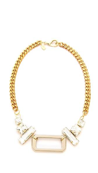 Fallon Jewelry Crystal Hardware Pendant Necklace
