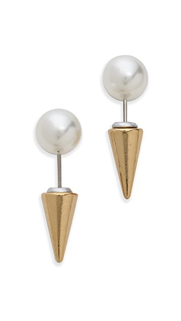 Fallon Jewelry Swarovski Imitation Pearl Microspike Earrings
