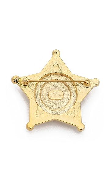 Fallon Jewelry Swarovski Pave Badge Pin
