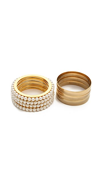 Fallon Jewelry Channel Bangle Set