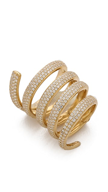 Fallon Jewelry Pave Elongated Spiral Armor Ring