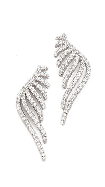 Fallon Jewelry Pave Wing Earrings