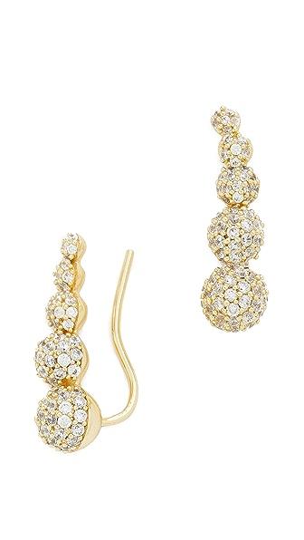 Fallon Jewelry Shalom Pave Climber Earrings