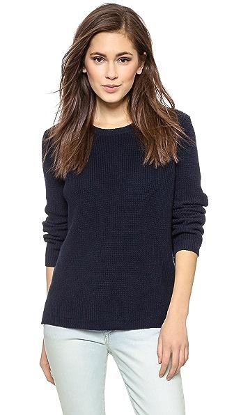 525 America Emma Shaker Sweater - Dark Navy
