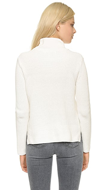 525 America Shaker Mock Neck Sweater