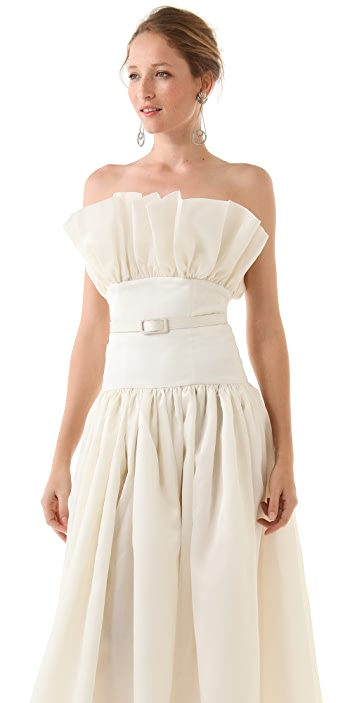 Fancy Norma Strapless Gown with Belt