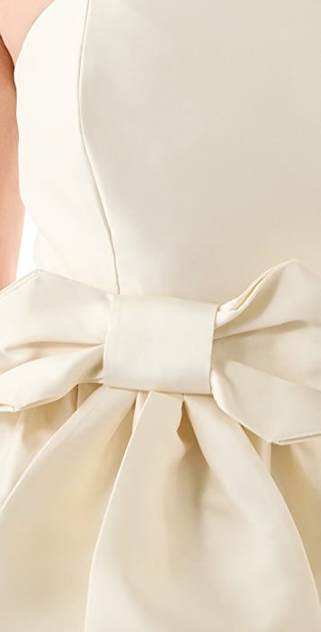 Fancy April Strapless Dress with Bow