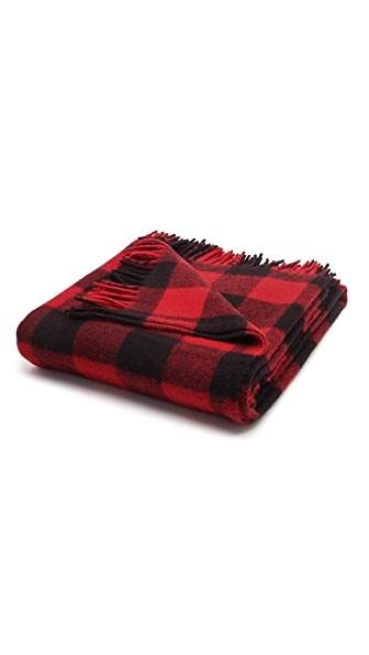 Faribault Woolen Mills Buffalo Check Throw