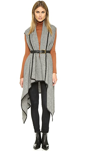 Faribault Woolen Mills Herringbone Blanket Vest