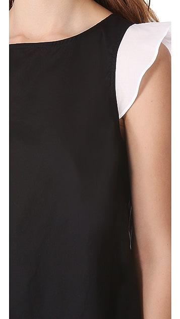Friends & Associates Ruffle Sleeve Top