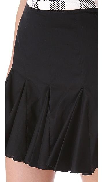 Friends & Associates Cotton Godet Skirt