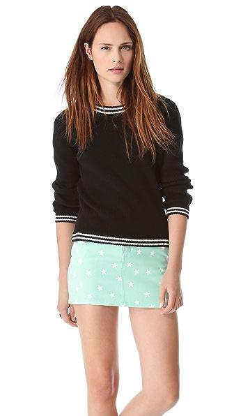Friends & Associates Cindy Ribbed Crew Neck Sweater
