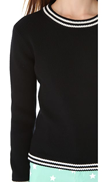 Friends & Associates Cindy Ribbed Crew Neck Sweater