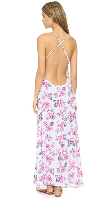 Frankies Bikinis Rae Halter Maxi Dress
