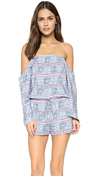 Frankies Bikinis Tulum Off Shoulder Romper