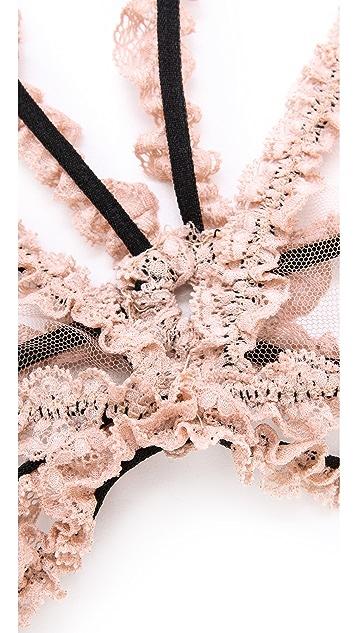 Fleur du Mal Lace Bondage Triangle Bra
