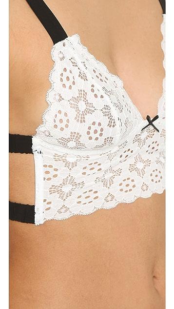 Fleur du Mal Crochet Lace Triangle Bra