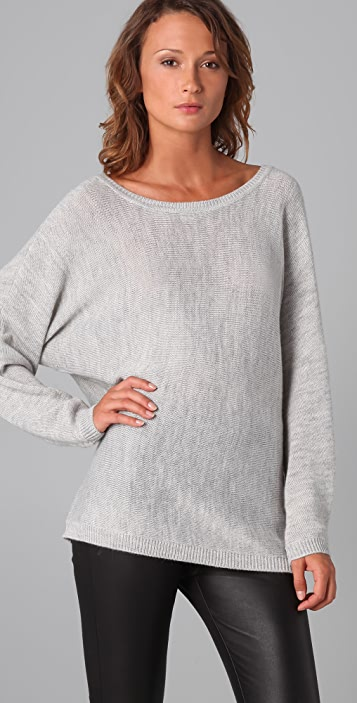 Feel The Piece V Back Sweater