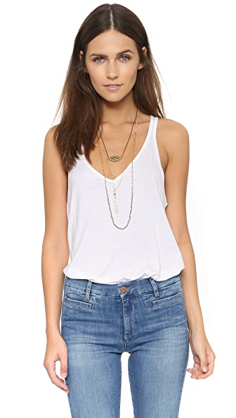 Feel The Piece V Layer Tank In White