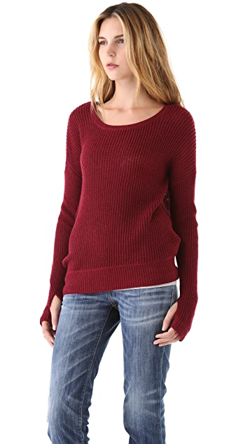 Feel The Piece Asymmetric Bottom Sweater