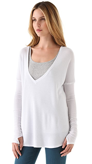 Feel The Piece Robin Deep V Neck Top