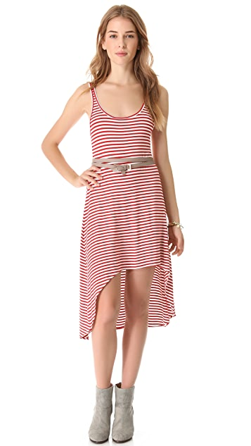 Feel The Piece Hi-Lo Striped Dress