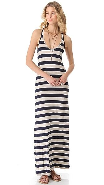 Feel The Piece V-Neck Striped Maxi Dress