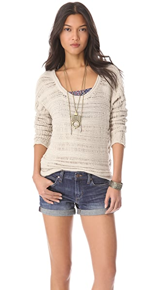 Feel The Piece Drop Stitch Tunic Sweater