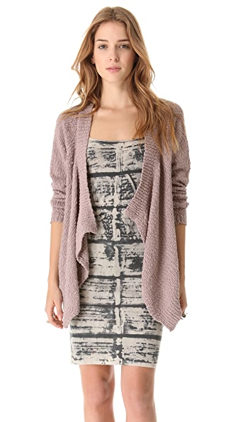 Feel The Piece Hi Lo Cardigan