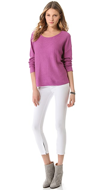 Feel The Piece Boxy Boat Neck Sweater
