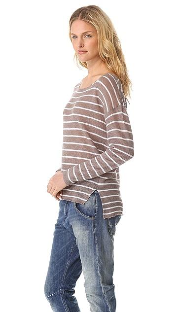 Feel The Piece Drop Shoulder Stripe Sweater