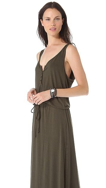 Feel The Piece Henley Maxi Dress