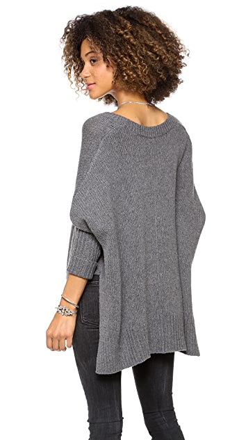Feel The Piece Solid Poncho