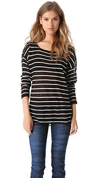 Feel The Piece Striped Knit Top