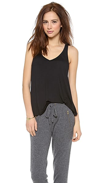 Feel The Piece V Layering Tank - Black