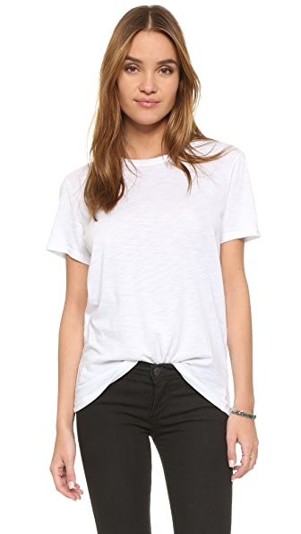 Feel The Piece Nicola Slub Crew Neck Tee In White