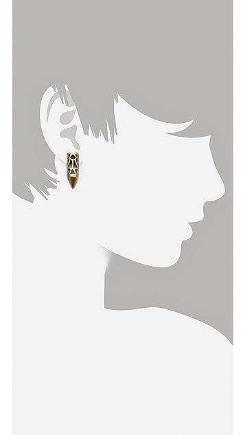 FELIKS+ADRIK Cutout Python Earrings