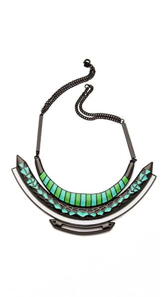 FELIKS+ADRIK Enamel Bib Necklace